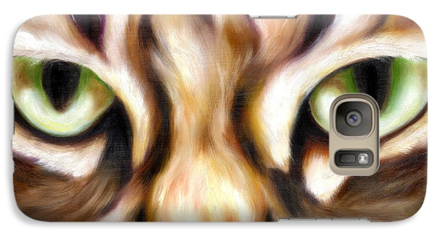Cat Galaxy S7 Case featuring the painting Trick Or Treat by Hiroko Sakai