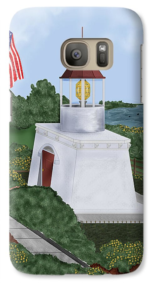 Trinidad Memorial Galaxy S7 Case featuring the painting Trinidad Memorial Lighthouse by Anne Norskog
