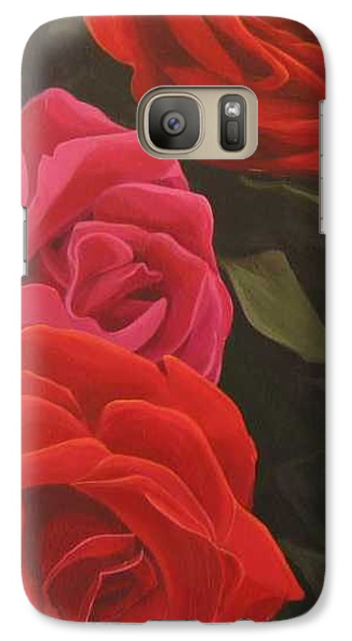 Roses In Italy Galaxy S7 Case featuring the painting Trio by Hunter Jay