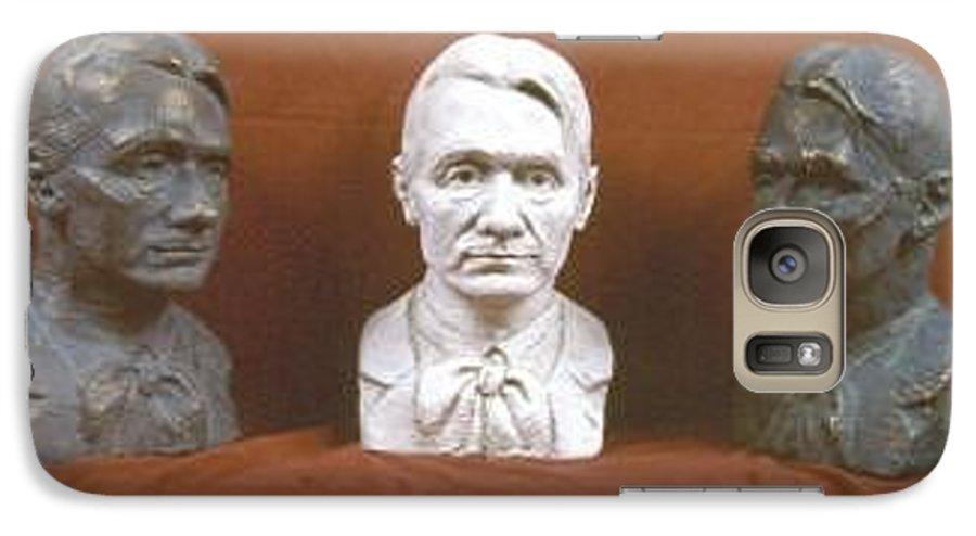Galaxy S7 Case featuring the sculpture Trio Portrait Of Rudolf Steiner by David Dozier