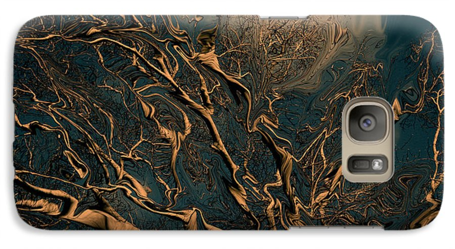 Trees Nature Abstract Digital Painting Galaxy S7 Case featuring the photograph Trippy Tree by Linda Sannuti