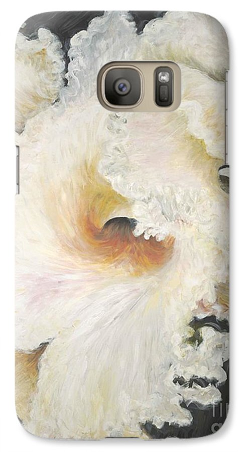Flower Galaxy S7 Case featuring the painting Tropical Flowers by Nadine Rippelmeyer