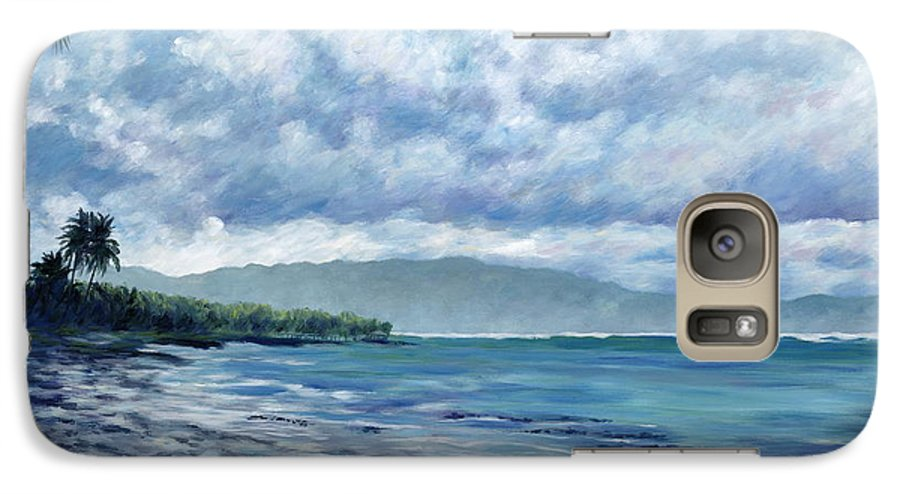 Seascape Galaxy S7 Case featuring the painting Tropical Rain by Danielle Perry