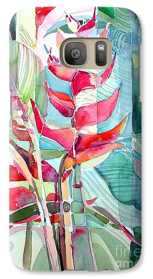Landscape Galaxy S7 Case featuring the painting Tropicana Red by Mindy Newman