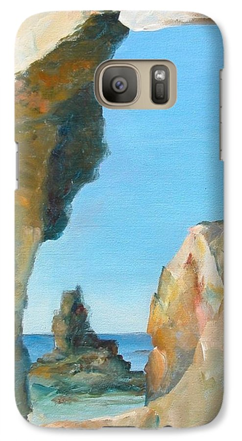 Paysage Galaxy S7 Case featuring the painting Trouee 1 by Muriel Dolemieux