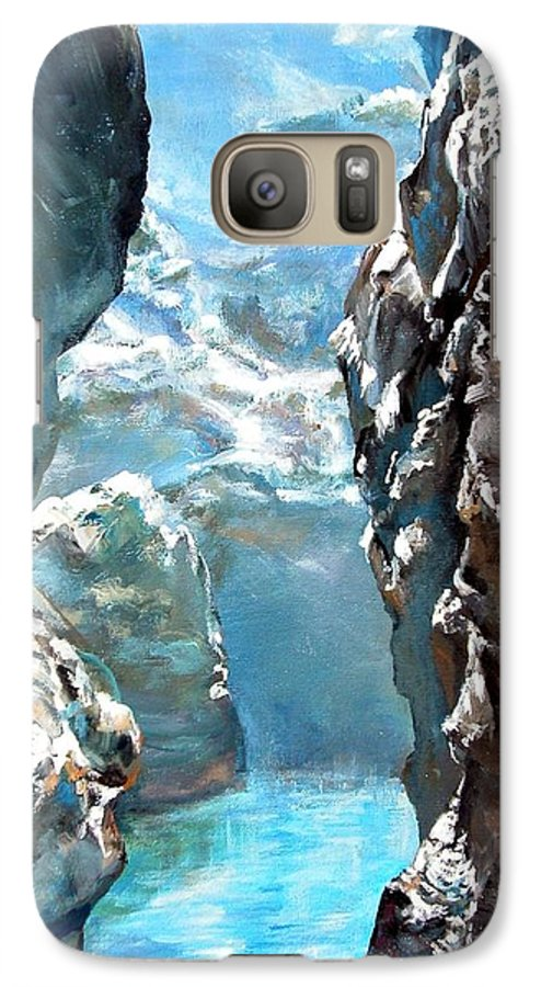 Landscape Galaxy S7 Case featuring the painting Trouee 3 by Muriel Dolemieux