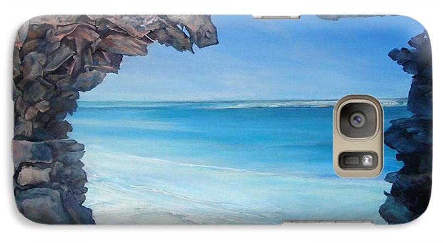 Landscape Galaxy S7 Case featuring the painting Trouee 4 by Muriel Dolemieux