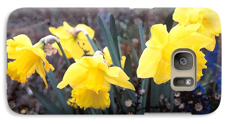Flowes Galaxy S7 Case featuring the photograph Trumpets Of Spring by Steve Karol