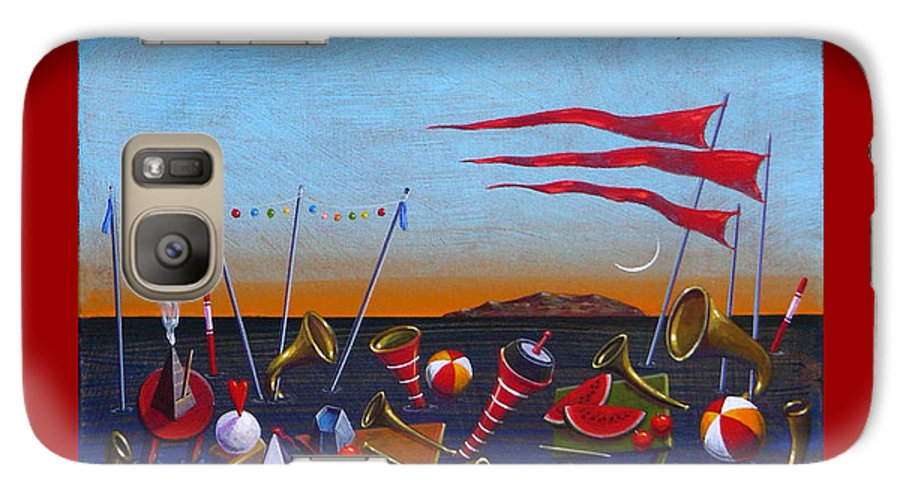 Piano Galaxy S7 Case featuring the painting Trumpets Of The Mediterranean by Dimitris Milionis