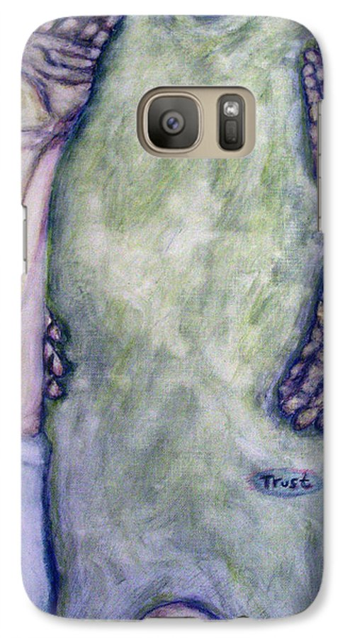 Evocative Expressionism Galaxy S7 Case featuring the painting Trust by Stephen Mead