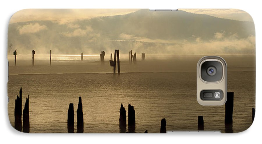 Tugboat Galaxy S7 Case featuring the photograph Tugboat In The Mist by Idaho Scenic Images Linda Lantzy