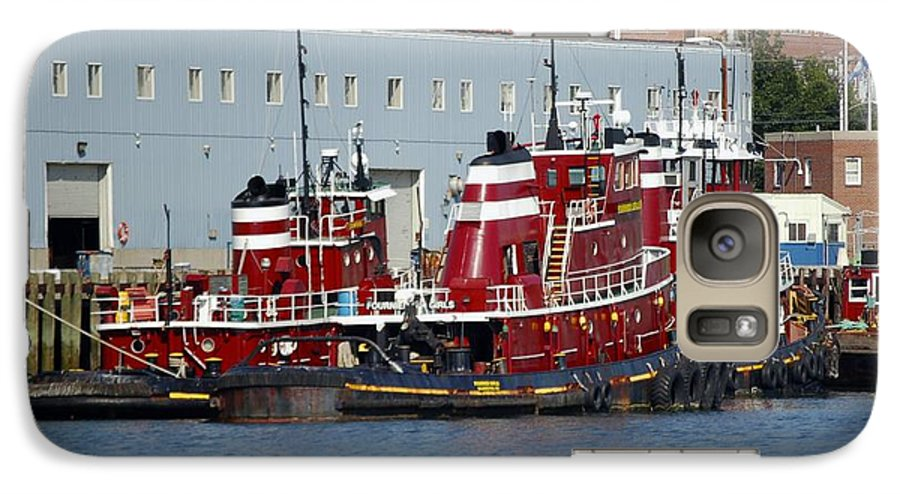Tug Galaxy S7 Case featuring the photograph Tugs At Rest by Faith Harron Boudreau