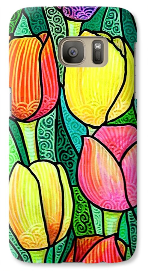 Tulips Galaxy S7 Case featuring the painting Tulip Expo by Jim Harris