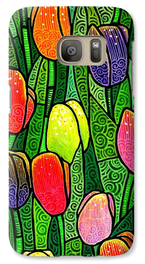 Tulips Galaxy S7 Case featuring the painting Tulip Glory by Jim Harris