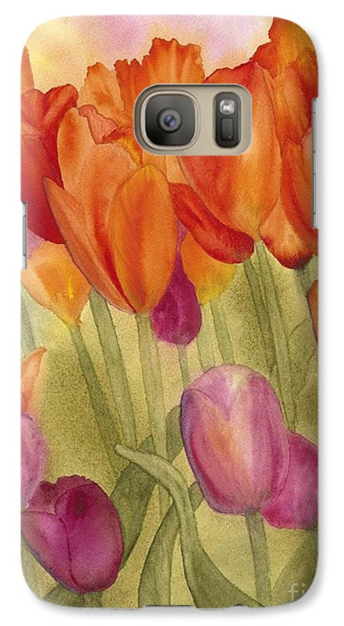 Tulips Galaxy S7 Case featuring the painting Tulip Glory by Louise Magno