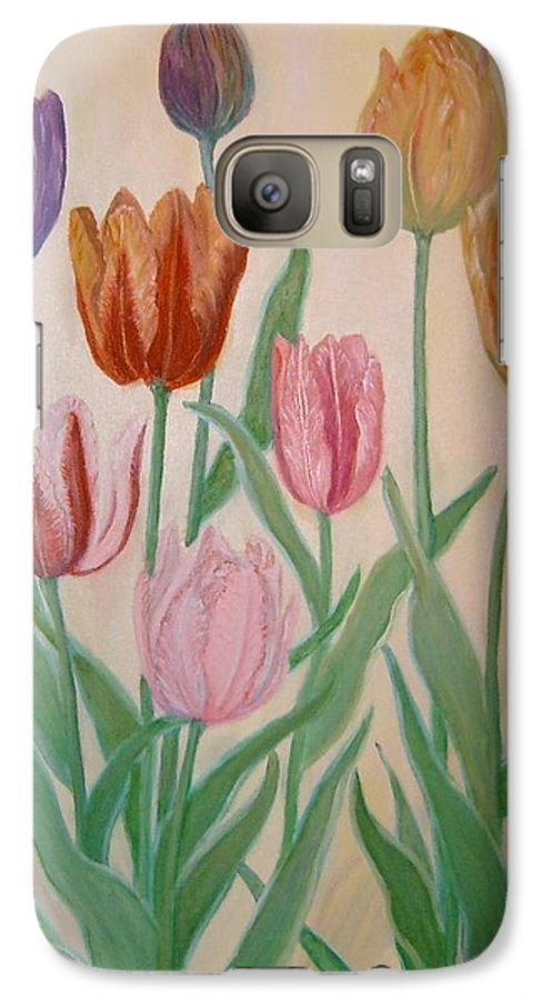 Flowers Of Spring Galaxy S7 Case featuring the painting Tulips by Ben Kiger