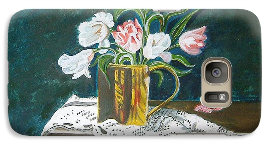 Tulips Galaxy S7 Case featuring the painting Tulips by Manjiri Kanvinde