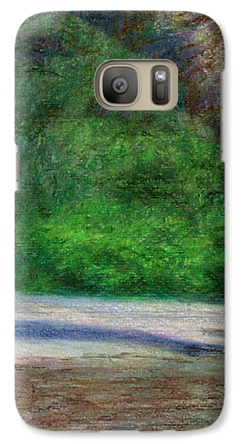 Rainbow Colors Pastel Galaxy S7 Case featuring the painting Tunnels Beach by Kenneth Grzesik