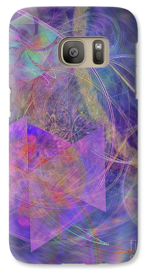 Turbo Blue Galaxy S7 Case featuring the digital art Turbo Blue by John Beck