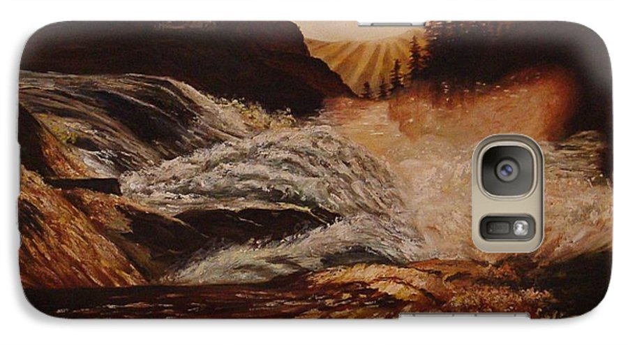 Water Galaxy S7 Case featuring the painting Turbulent Waters by Quwatha Valentine