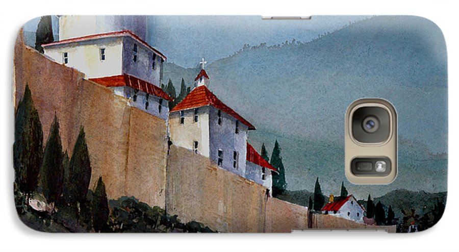 Tuscan Galaxy S7 Case featuring the painting Tuscan Lane by Charles Rowland