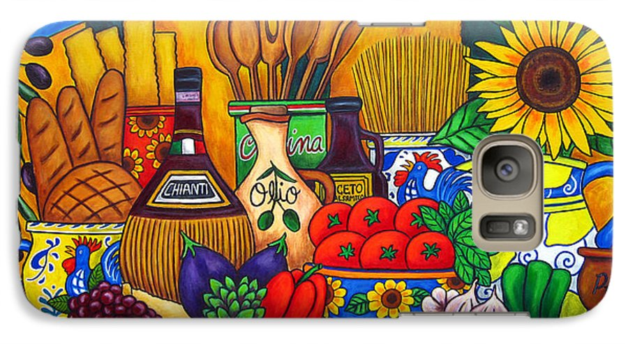 Still Life Galaxy S7 Case featuring the painting Tuscany Delights by Lisa Lorenz