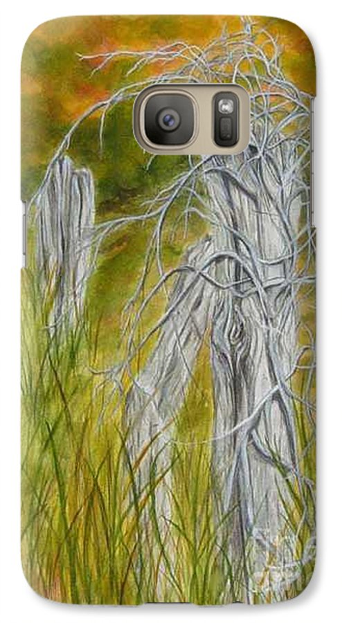 Landscape Galaxy S7 Case featuring the painting Twisted by Regan J Smith