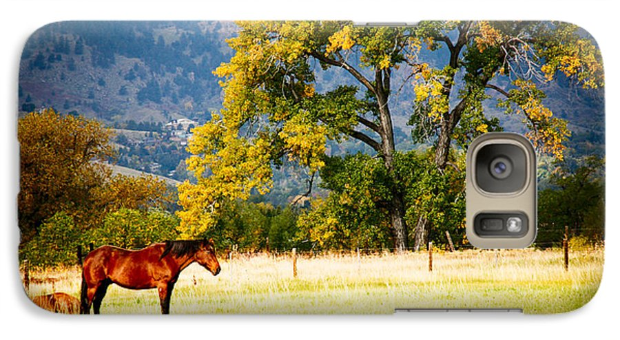 Animal Galaxy S7 Case featuring the photograph Two Horses by Marilyn Hunt