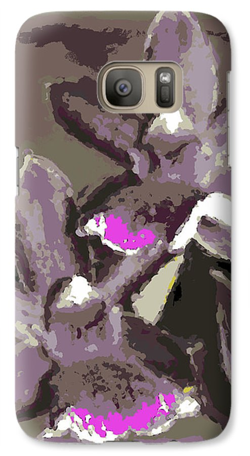 Orchid Galaxy S7 Case featuring the photograph Two Orchids by Ann Tracy