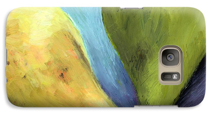 Pear Galaxy S7 Case featuring the painting Two Pears Still Life by Michelle Calkins