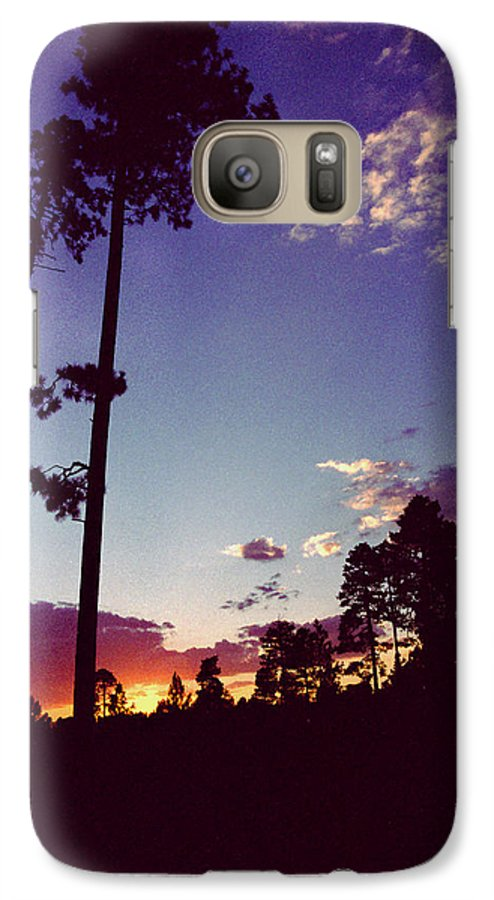 Arizona Sunset Galaxy S7 Case featuring the photograph Two Pines Sunset by Randy Oberg