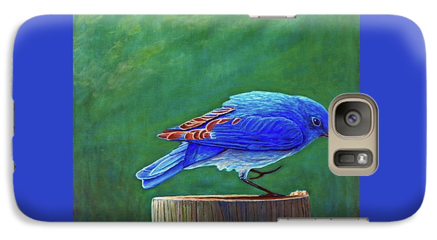 Bluebird Galaxy S7 Case featuring the painting Two Step by Brian Commerford