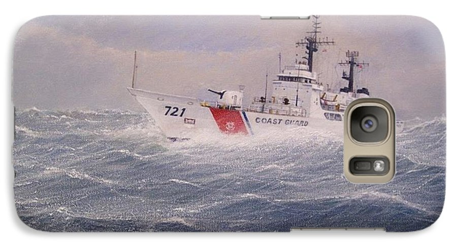 Ship Galaxy S7 Case featuring the painting U. S. Coast Guard Cutter Gallitin by William H RaVell III