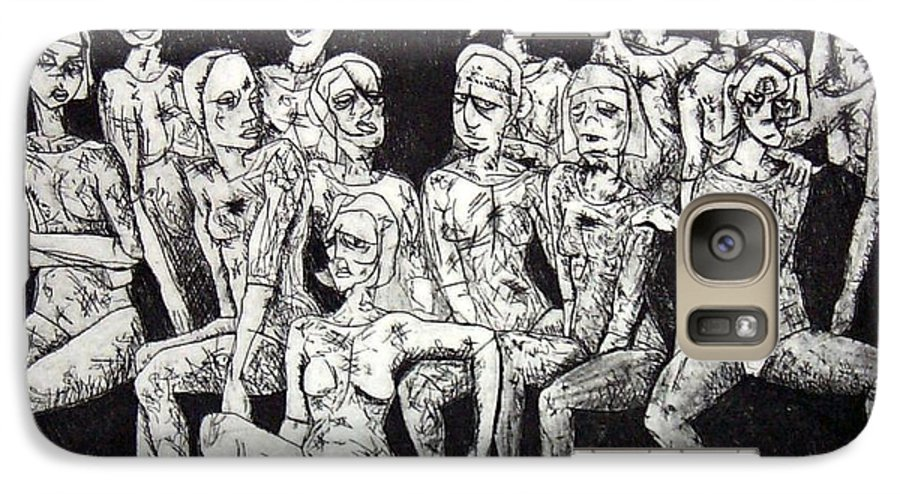 Etching Galaxy S7 Case featuring the print Ugly Girls by Thomas Valentine