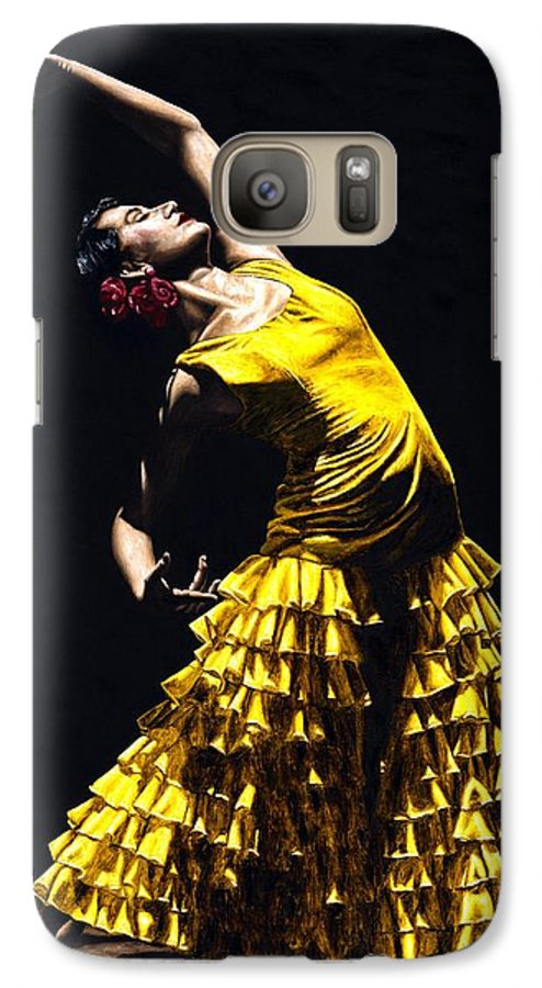 Flamenco Galaxy S7 Case featuring the painting Un Momento Intenso Del Flamenco by Richard Young