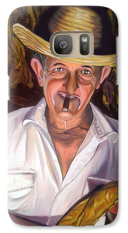 Cuban Art Galaxy S7 Case featuring the painting Uncle Frank by Jose Manuel Abraham