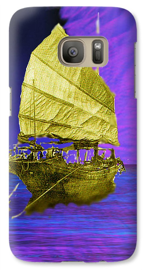 Nautical Galaxy S7 Case featuring the digital art Under Golden Sails by Seth Weaver
