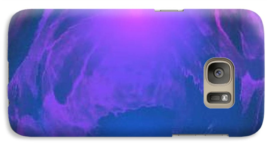Water.underwater View.sun.colrs.blue.rose.grey.cold. Galaxy S7 Case featuring the digital art Underwater Kingdom by Dr Loifer Vladimir