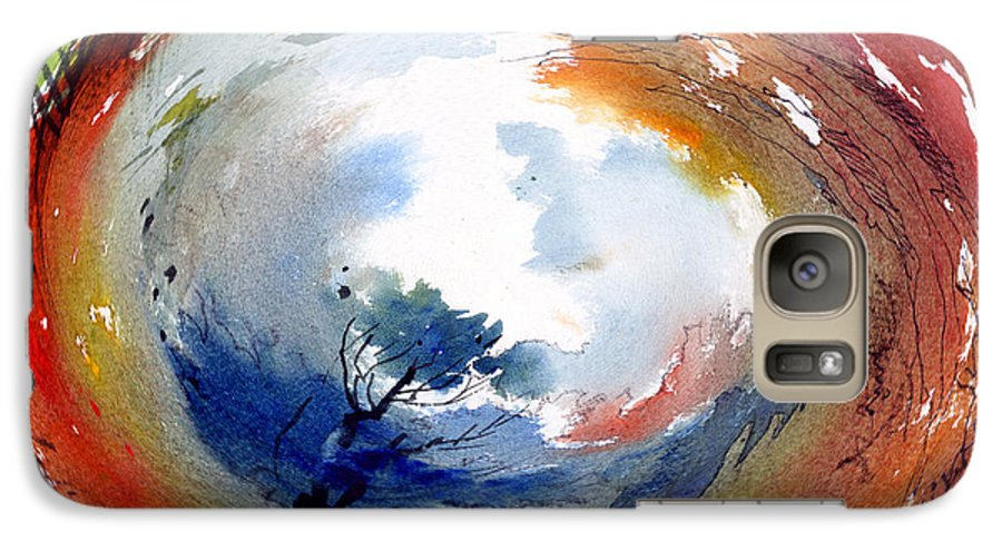 Landscape Water Color Watercolor Digital Mixed Media Galaxy S7 Case featuring the painting Universe by Anil Nene