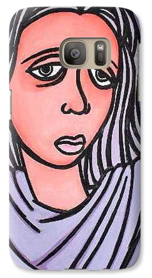 Portrait Galaxy S7 Case featuring the painting Unknown by Thomas Valentine
