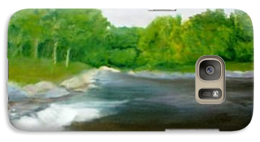 River Galaxy S7 Case featuring the painting Untitled Plein Aire by Sheila Mashaw