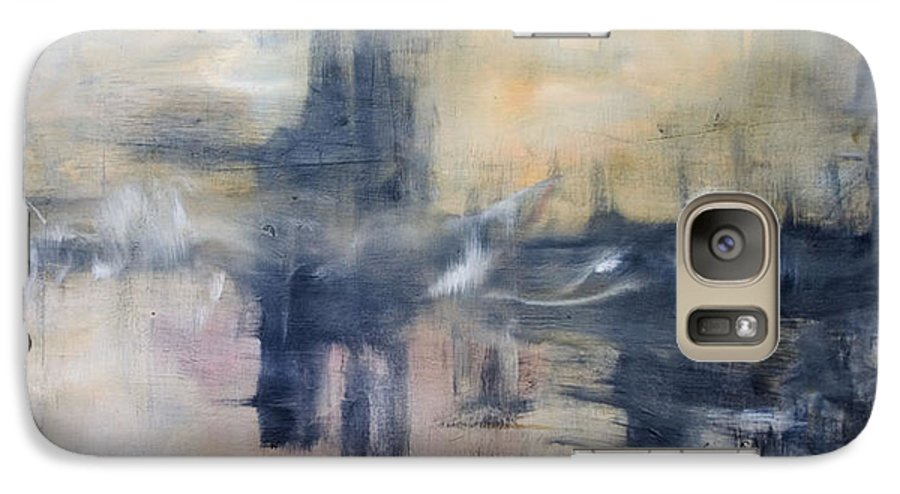 Cityscape Galaxy S7 Case featuring the painting Untitled by Shawnequa Linder