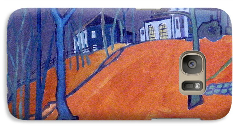 Houses On A Hill Galaxy S7 Case featuring the painting Up Above Dunstable by Debra Bretton Robinson