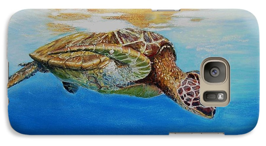 Wildlife Galaxy S7 Case featuring the painting Up For Some Rays by Ceci Watson