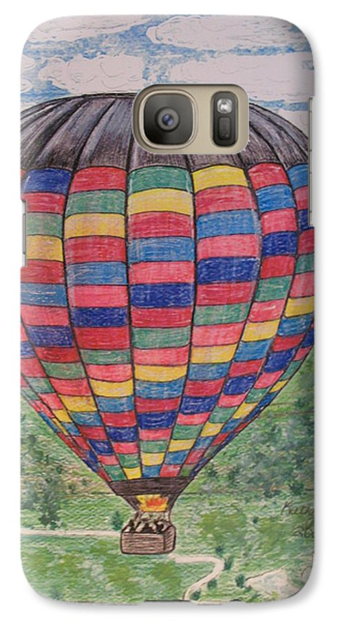 Balloon Ride Galaxy S7 Case featuring the painting Up Up And Away by Kathy Marrs Chandler