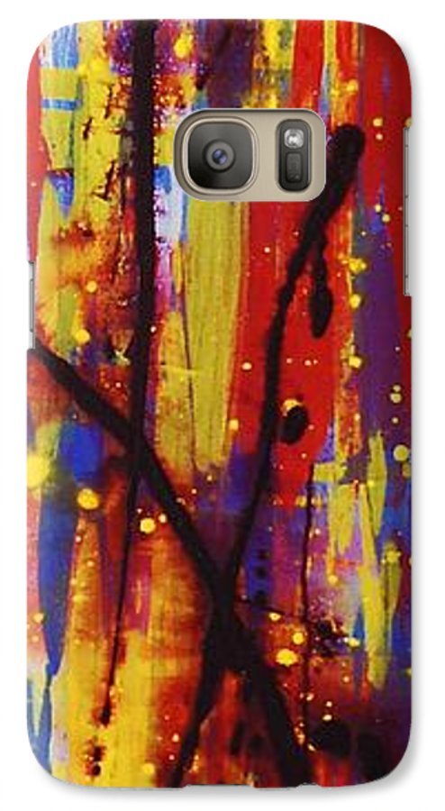 Abstract Galaxy S7 Case featuring the painting Urban Carnival by Lauren Luna
