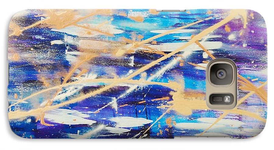 Abstract Galaxy S7 Case featuring the painting Urban Footprint by Lauren Luna