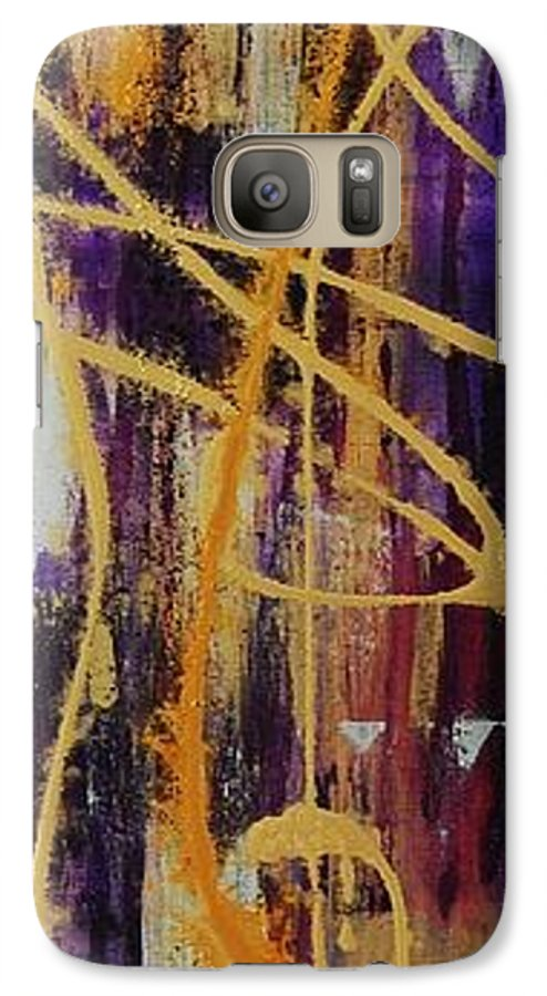 Abstract Galaxy S7 Case featuring the painting Urban Royality by Lauren Luna