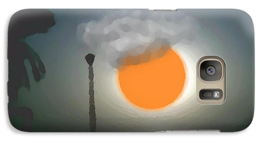 Urban.sea.sunset.sky.sun.water Sun Reflection.coast. Galaxy S7 Case featuring the digital art Urban Sea Sunset by Dr Loifer Vladimir