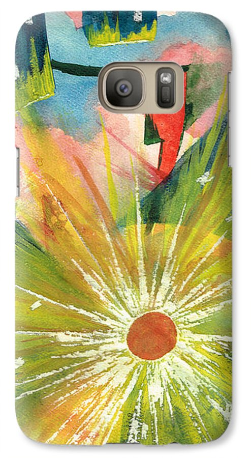 Downtown Galaxy S7 Case featuring the painting Urban Sunburst by Andrew Gillette